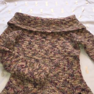 Gorgeous multicolored cowl neck sweater